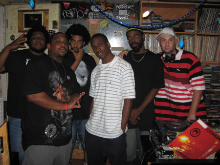 KC, Jay-C, E&J, Maestro, Leaf, some dude with a turkey neck