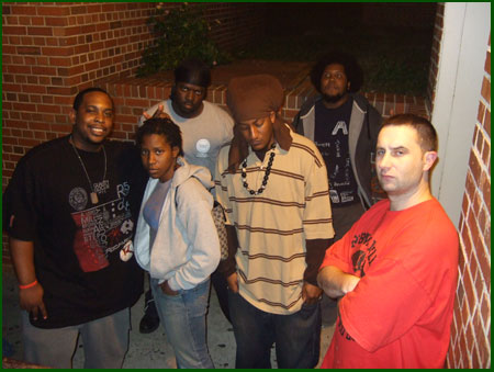 After the show - from left: Jay-C, DJ Acrojam, Mixtape Jeff, Isreal, K.C., A to the L
