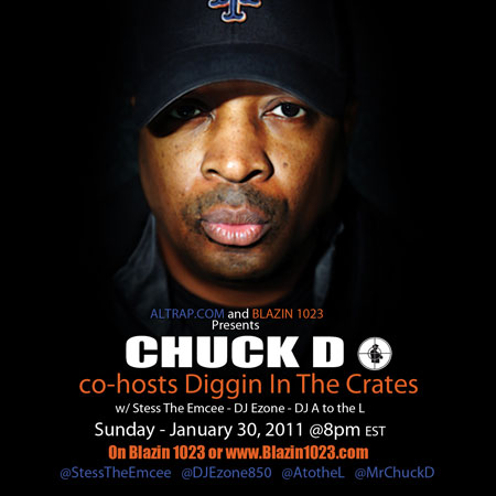 Chuck D host's Blazin' 102.3's Diggin' In The Crates with Stess The Emcee, DJ A to the L & DJ E-Zone