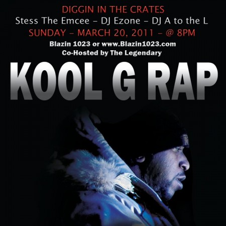 Diggin' In The Crates with Stess The Emcee, DJ A to the L, and DJ E-Zone & hosted by Kool G Rap