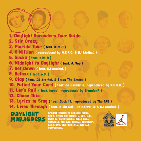 M.E.R.C. & DJ A to the L - Daylight Marauders Back Cover