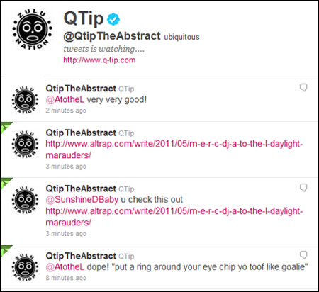 Q-Tip from A Tribe Called Quest APPROVES Daylight Marauders!