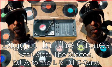Diggin' In The Crates with Stess The Emcee, DJ A to the L & DJ E-Zone on Blazin' 102.3