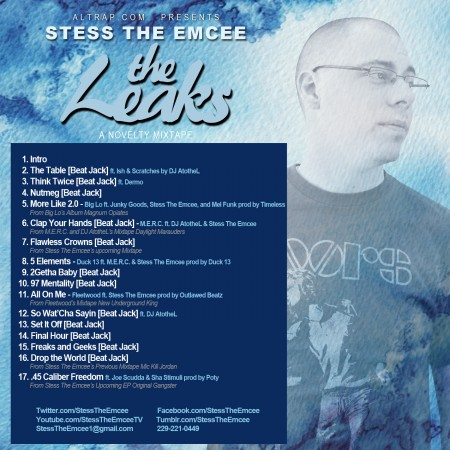 Stess The Emcee - The Leaks (Back Cover)