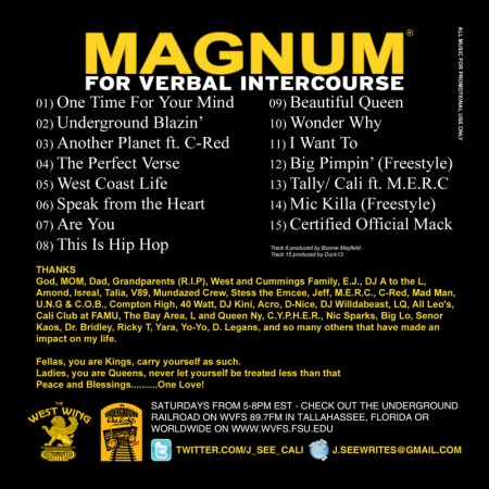J.See - Magnum For Verbal Intercourse (Back Cover)