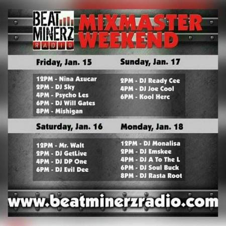 The Mixmaster Weekend Special Mix on Beatminerz Radio 01/18/16