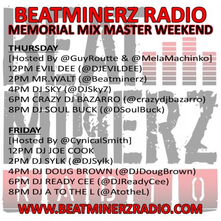 Beatminerz Radio Memorial Mix Master Weekend