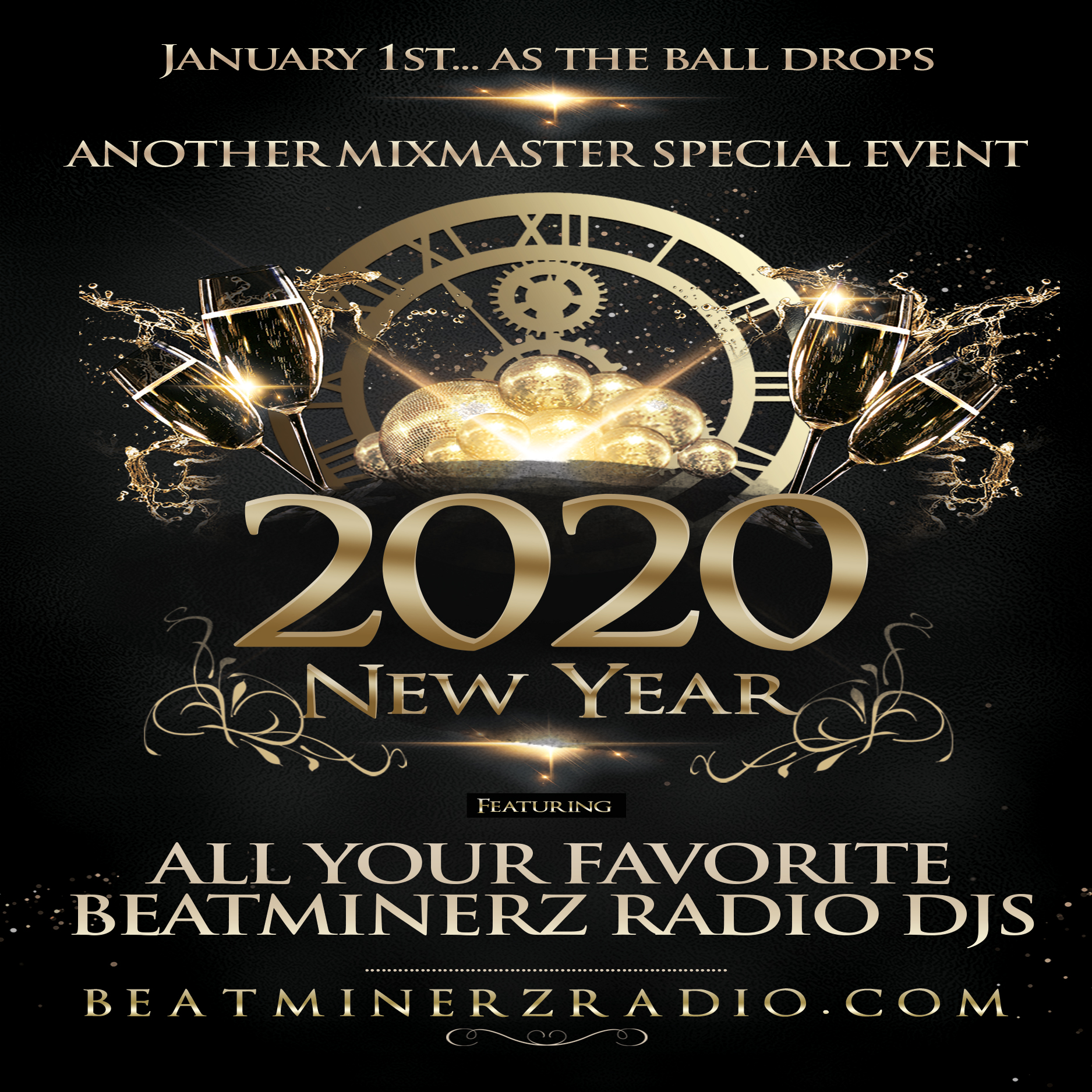 DJ A to the L - Ball Drop January 2020 Mix on Beatminerz Radio