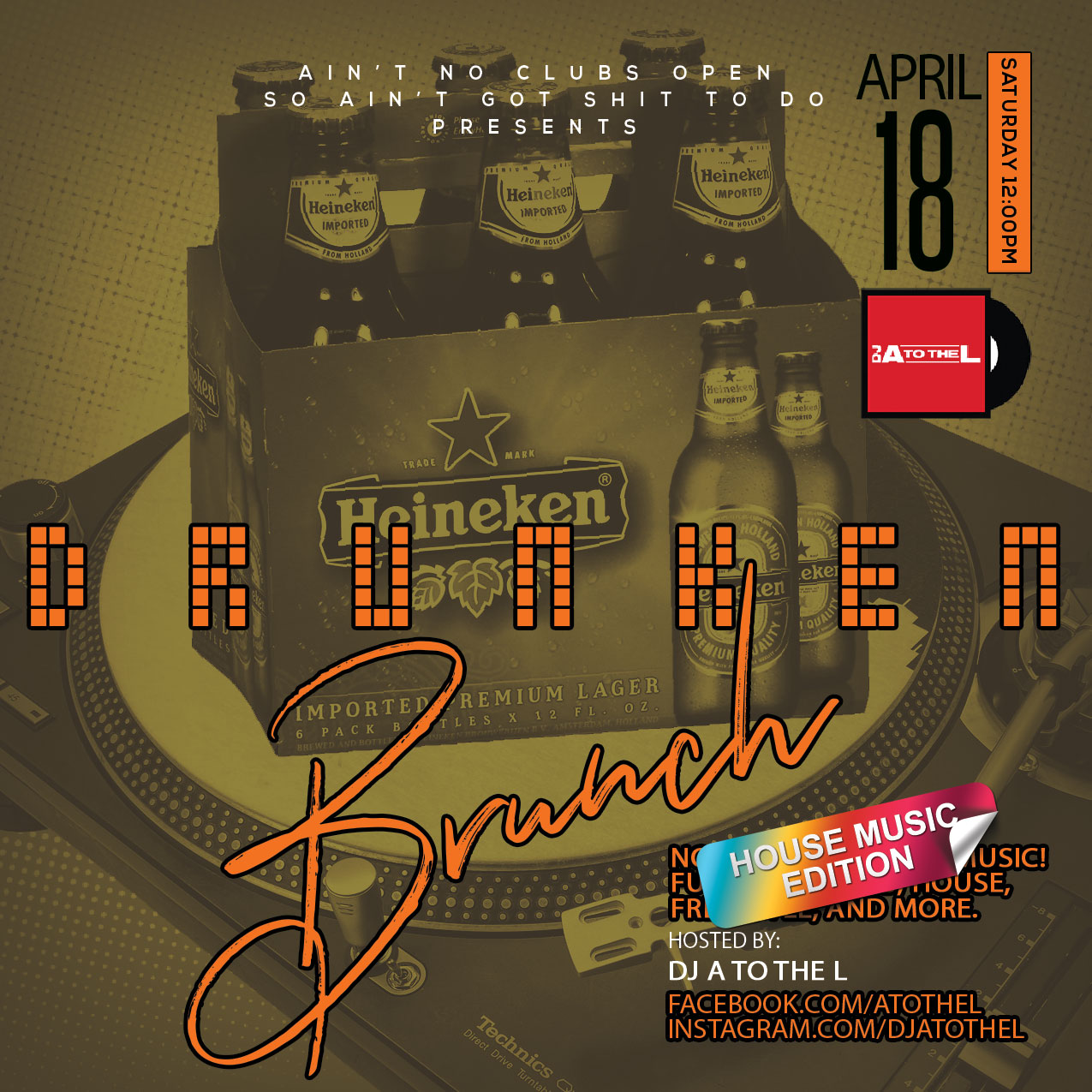 Drunken Brunch - The Ammo Dump with DJ A to the L