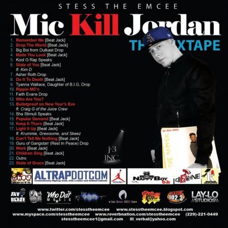 Stess The Emcee - Mic Kill Jordan : The Mixtape