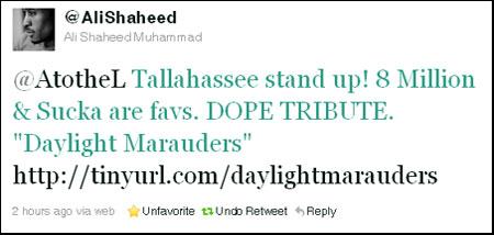 Ali Shaheed Muhammad from A Tribe Called Quest APPROVES Daylight Marauders!