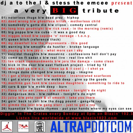 DJ A to the L & Stess The Emcee Present A Very BIG Tribute